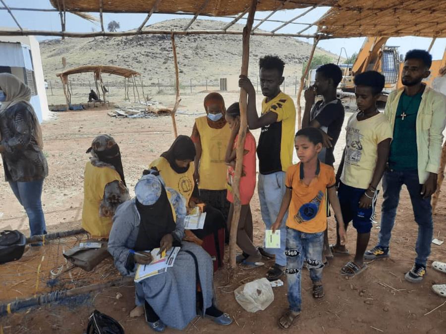 2021 YF vaccination campaign in Gedarif - Sudan
