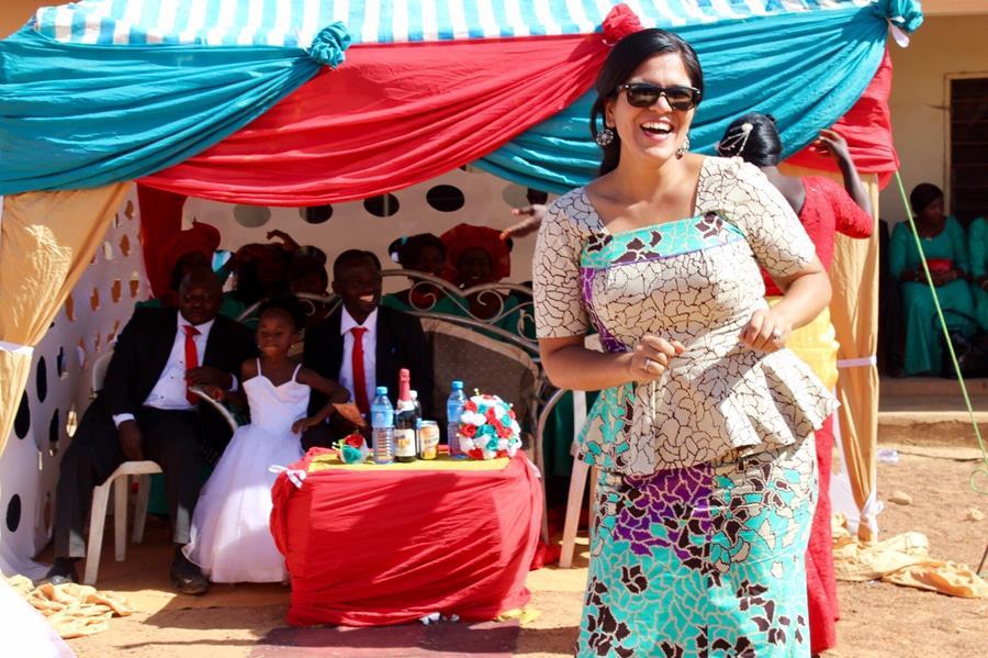 Edith at a wedding in Nigeria
