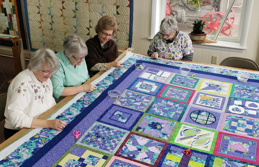 Women quilting in Ephrata, Pa.