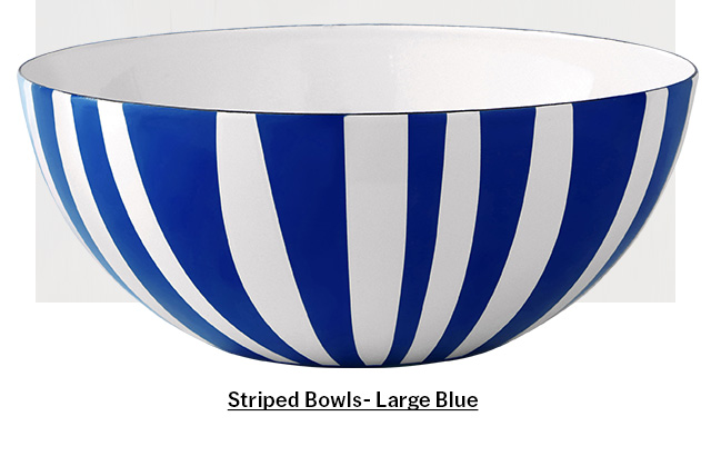 Striped Bowl - Large Blue