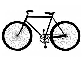 Drawing of a bicycle.