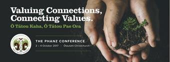 Banner for 2017 Public Health Association of NZ Conference.