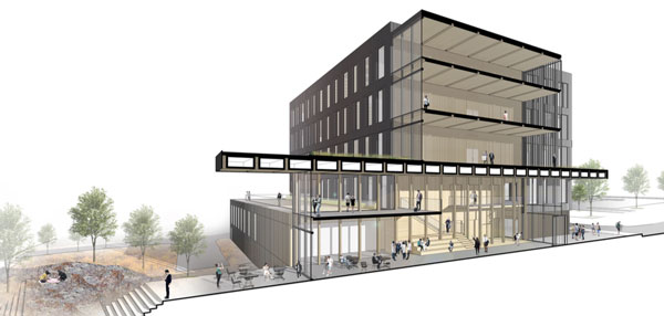 Rendering for new Catalyst Building in Spokane's University District