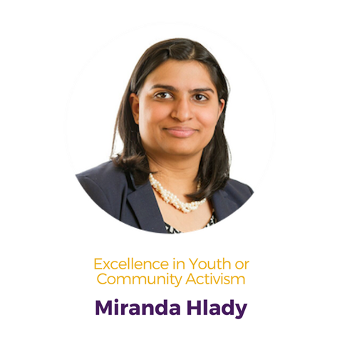 Miranda Hlady, Excellence in Youth or Community Activism